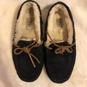 UGG Moccasins—black and tan